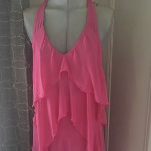 Patricia Pepe frilly dress  pink Sz S/4 Italy